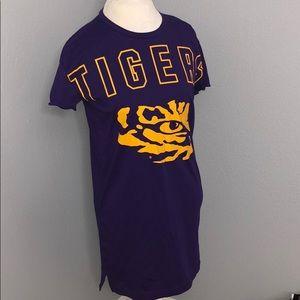 Victoria's Secret LSU Tigers T-Shirt Dress XS NWT